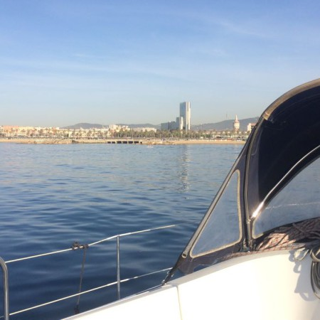 View from our Boat tours in Barcelona