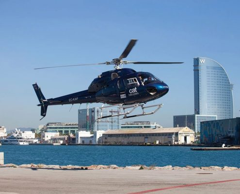 Helicopter tour Barcelona
