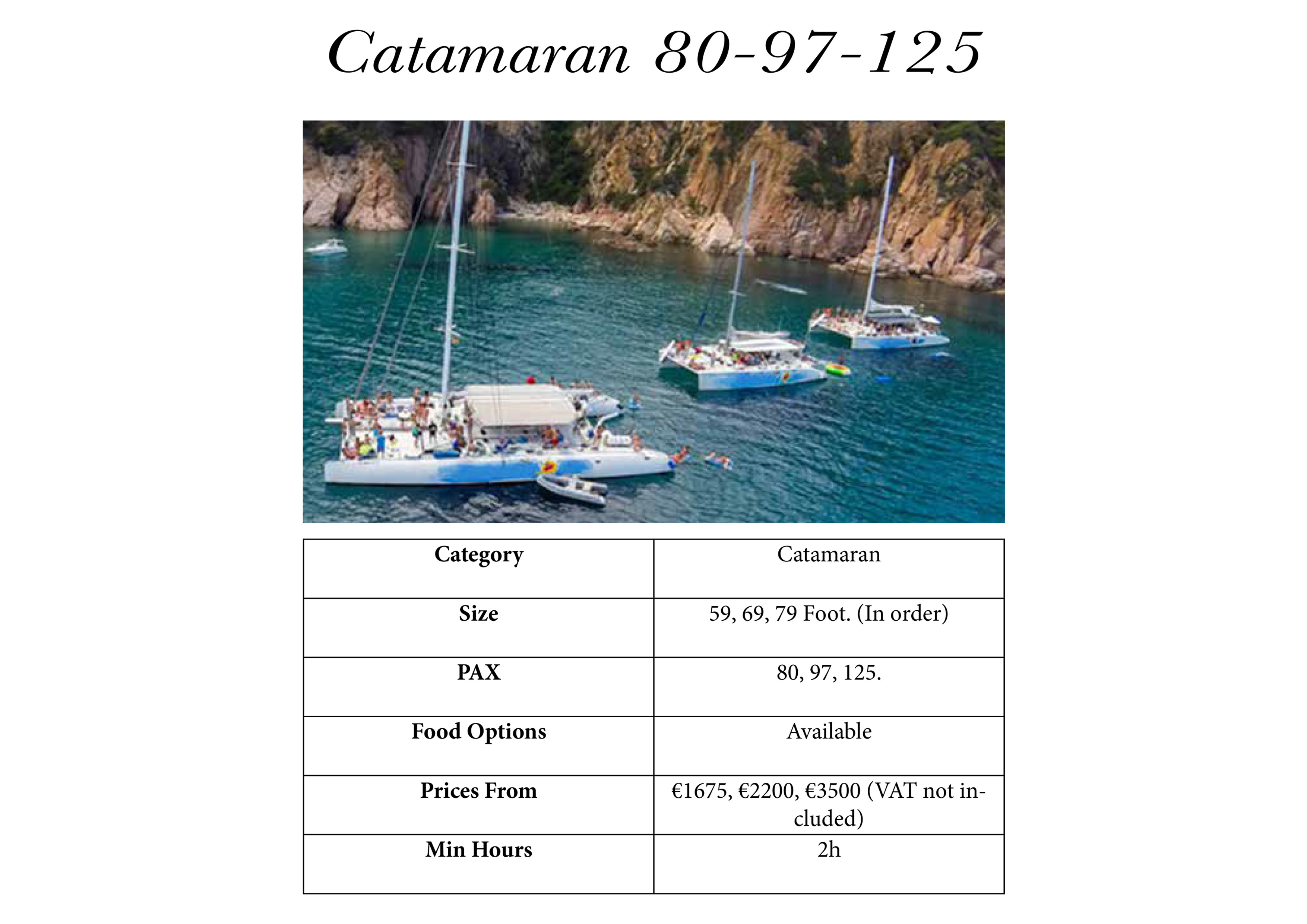 catamaran Barcelona tours