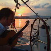sailing sunset spanish guitar barcelona