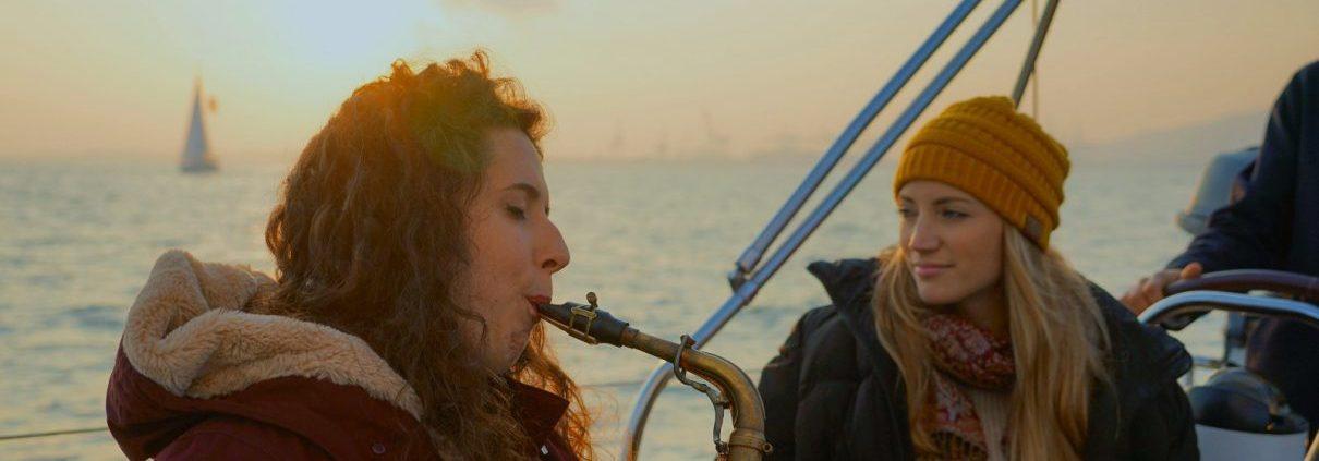 Saxophone sailing experience barcelona